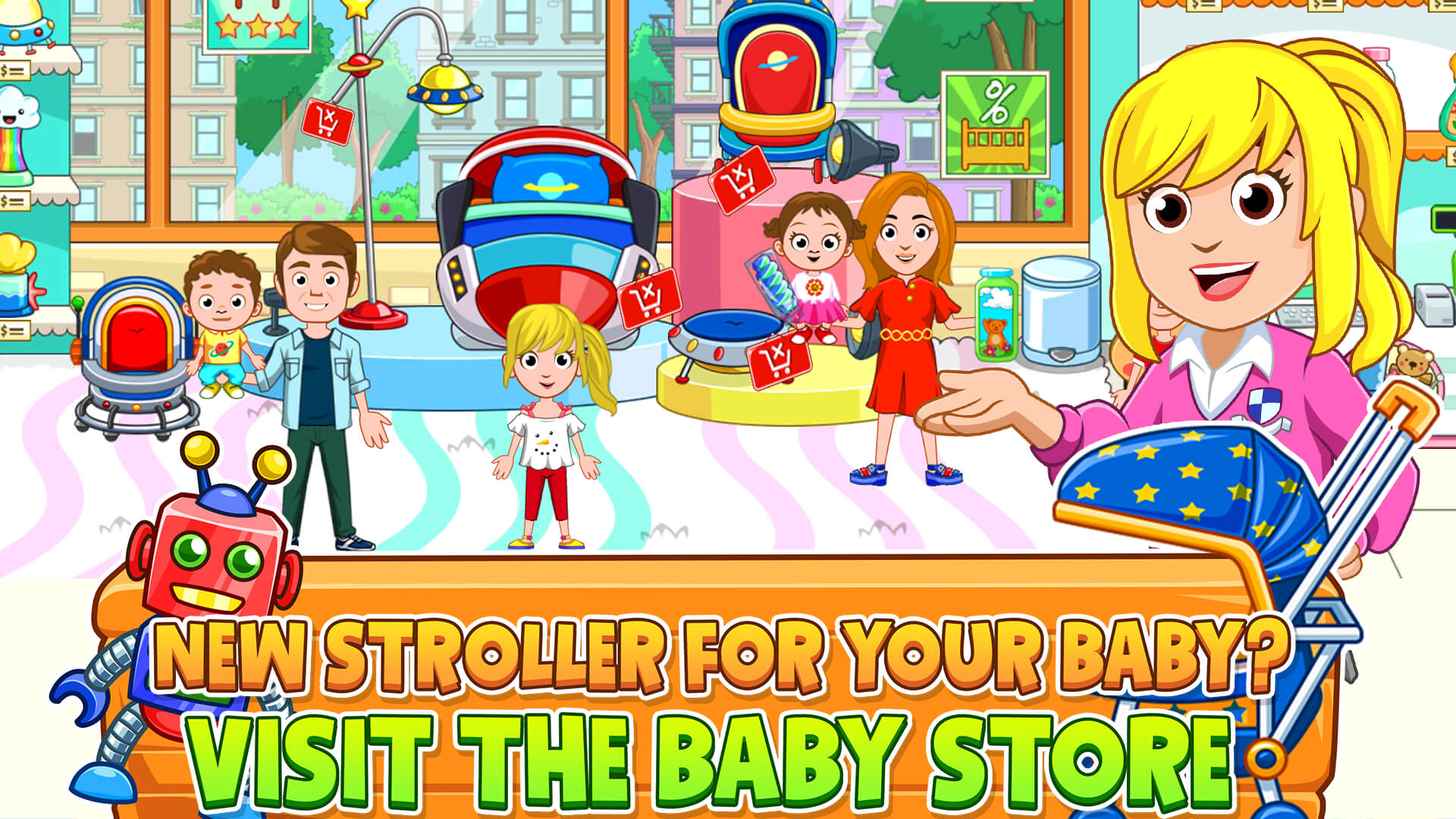 No Crying Here!  All-New 'My City:  Newborn Baby' Newest Title from Award-Winning My Town Games Now Available on the App Store and Google Play