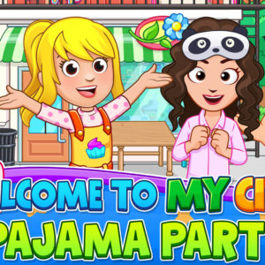 Popcorn! Movies! Snacks and More!  Newest Title in the My City Series from  the Creators of Award-Winning My Town Games™  'My City:  Pajama Party'